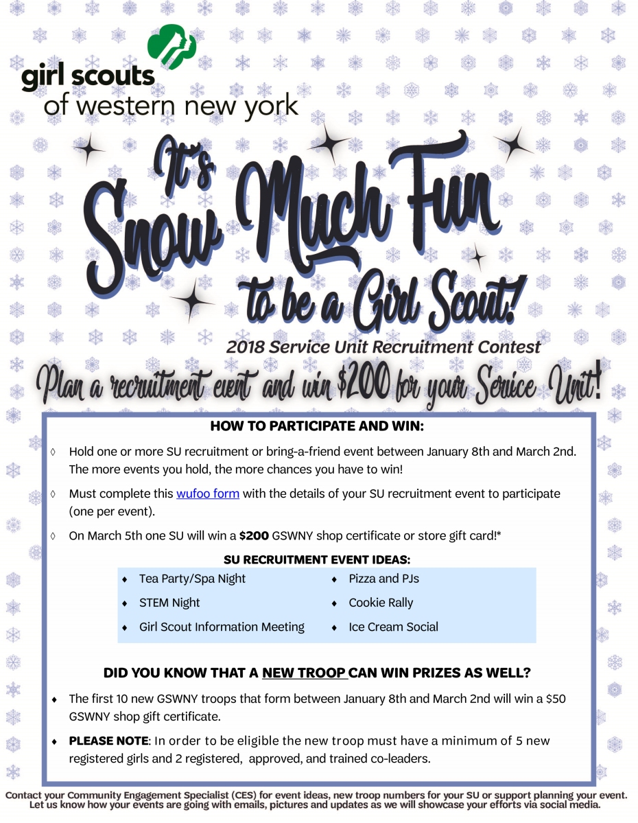 it s snow much fun to be a girl scout 2018 service unit