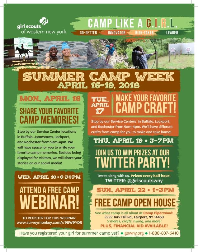 2018 Camp Week Flyer